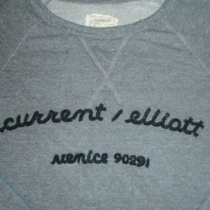 CURRENT ELLIOTT SWEATSHIRT ~ M ~ EMBROIDERED LOGO